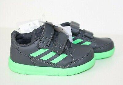 Unisex Adidas AltaSport CF I  D96840 Sneaker 23 grau grün Klettverschluss Schuhe