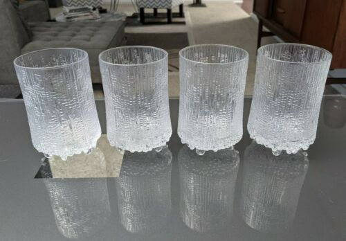 Four IITTALA Ultima Thule Highball Glasses Finland -- shipping included