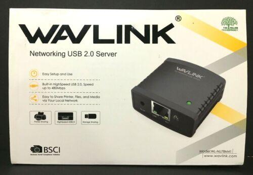 Wavlink USB 2.0 Networking Share Print Server 100Mbps LAN Ethernet NU78M41