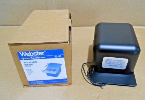 NIB WEBSTER 313-25AB78 IGNITION TRANSFORMER 2.2 AMP 120V GRNDN (20+ AVAILABLE)