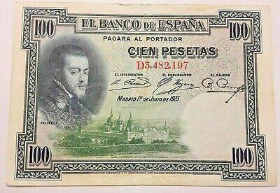 100 Pesetas, 1925-07-01, KM:69c, TTB Espagne, Spain Espagna #F1#