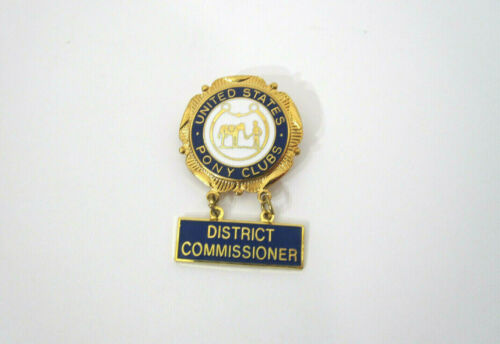 Vtg United States Pony Clubs Enameled Equestrian Horse Lapel Badge District C.
