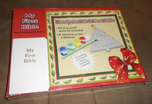 Handprint Kit and First Bible  Brand New Factory Sealed