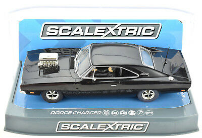 Scalextric Black Dodge Charger W/ Blower DPR W/ Lights 1/32 Slot Car C3936