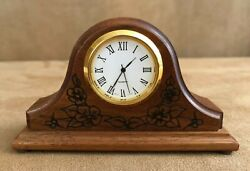 Fisher Lancaster Mini 4 wooden clock mantle shelf Pennsylvania amish wood desk