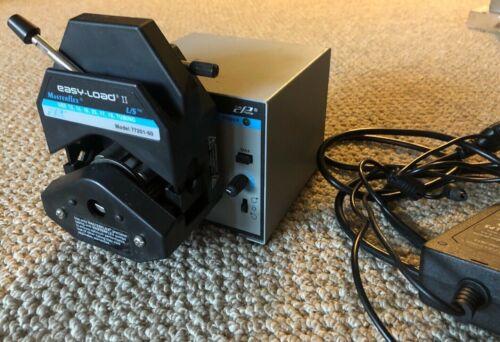 Masterflex pump model #77201-60, Easy-Load II, with power adaptor