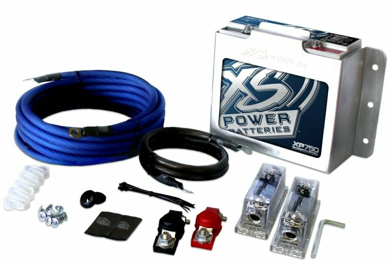 XS Power AGM Battery Power Cell & Installation Kit for Audio Systems - XP750-CK