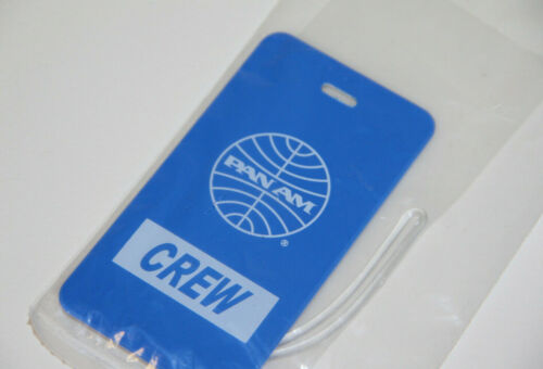 PAN AM Airlines CREW Vintage Luggage Tag