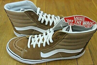 3911e7cf62 Vans Mens Sk8-Hi Tigers Eye Brown True White Canvas Suede Skate shoes Size  10