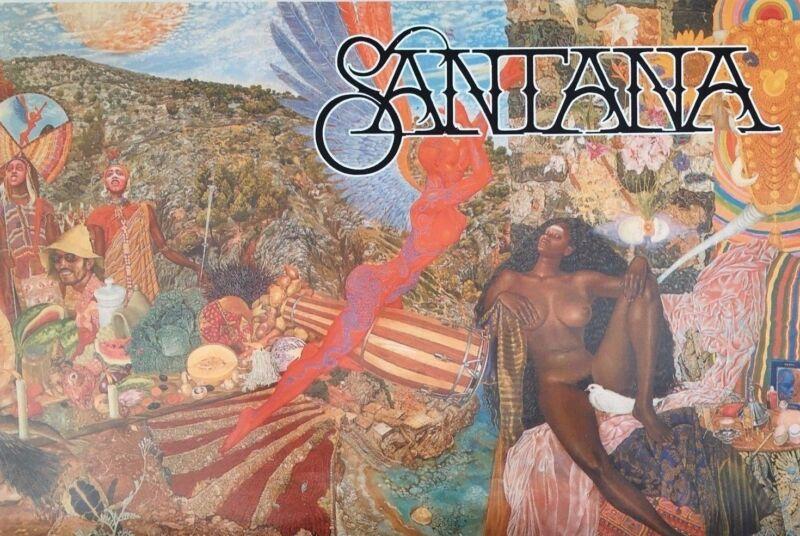 """MUSIC POSTER~Santana Abraxas Cover 24x36"""" 1980"""