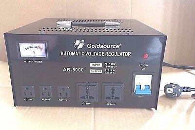 STABILIZZATORI ELETTRONICI DI TENSIONE FINO 5000W + TRASFORMATORE 220V- 110V-220, usato usato  Italia