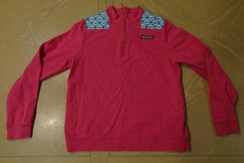 Vineyard Vines Pink Quarter Zip Pullover Girls size M