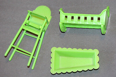 """VINTAGE 1974 """"LITTLE SWEETS"""" NURSERY SET FOR SUNSHINE FAMILY BY MATTEL-NEAR EXC"""