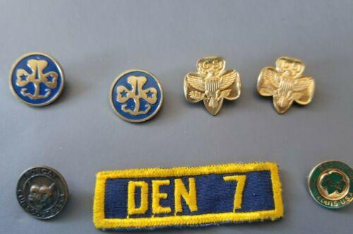 Vintage Girl Scout & Cub Scout Pins Lot