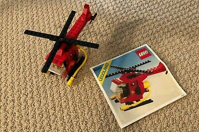 Vintage Lego Fire Copter 6685 Classic Town LEGOLAND Complete with Instructions