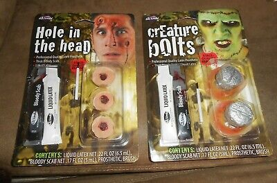 Fun World Bullet Holes in the Head and Creature Bolts - Halloween Bullet Holes
