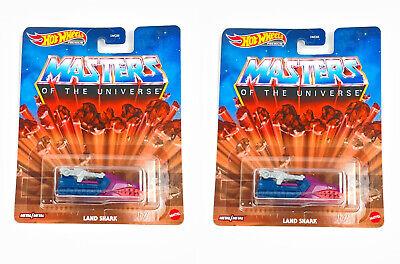 Lot Of 2 Hot Wheels Masters Of The Universe Land Shark PREMIUM 2020 Metal/Metal