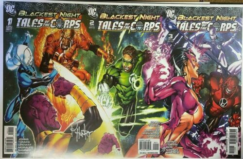 BLACKEST NIGHT TALES OF THE CORPS ROB HUNTER SIGNED PRINT 11 x 17 #oa-1189
