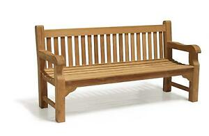 Wooden Bench on Cast Iron Outdoor Furniture Set