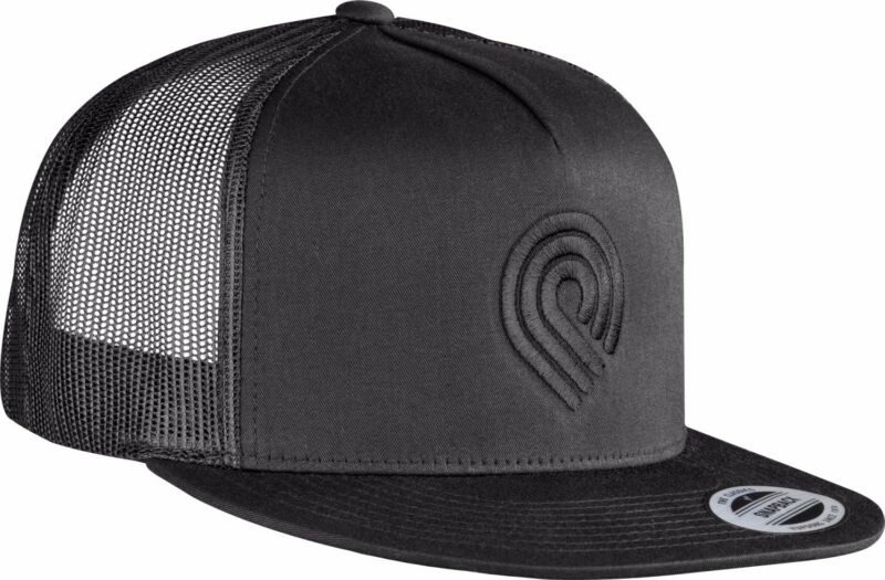 Powell Peralta TRIPLE P LOGO Skateboard Trucker Hat BLACK/BLACK