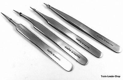 Set 4 Tweezers No. 23c57 Splinter Laboratory Microscopy Surgical Jewelry