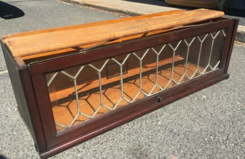Original Globe Wernicke Leaded Bookcase Section Mahogany D-8 1/2 - 598