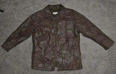Vintage Giorgio Armani Le Collezioni Calf Skin Insulated Leather Jacket Size 42