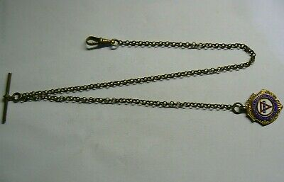 Victorian Vintage Pocket Watch Chain with a nice gold plated Solid Silver Fob