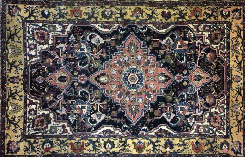 Tremendous Tribal - 1920s Antique Oriental Rug - Nomadic Carpet - 4.5 X 6.10 Ft.