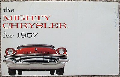 1957 Chrysler Saratoga Windsor New Yorker Convertible Sales Folder