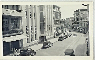 Vintage Black And White Panama Lottery Office Photo Print Post Card