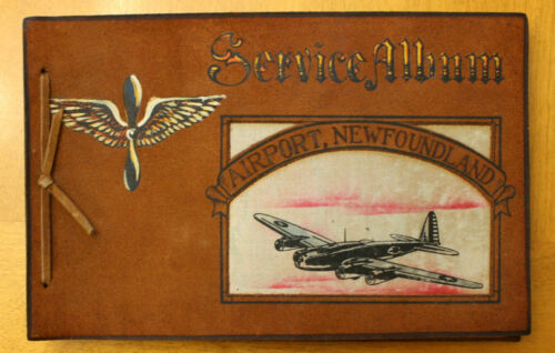 WWII AIRPORT NEWFOUNDLAND SERVICE PHOTO ALBUM - B-17 FLYING FORTRESS COVER IMAGE