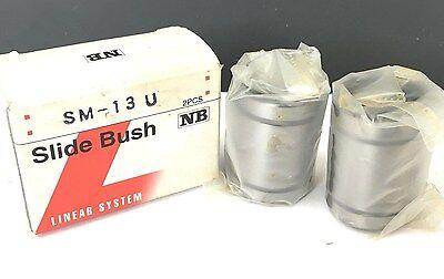 2pc Linear System Sm13u Slide Bush Ball Bushings Linear Motion Bearings