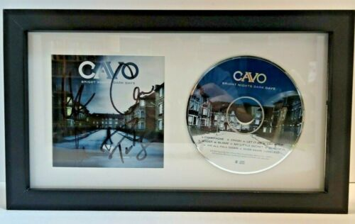 CAVO BAND hand SIGNED Autographed CD MATTED & FRAMED RARE LOOK