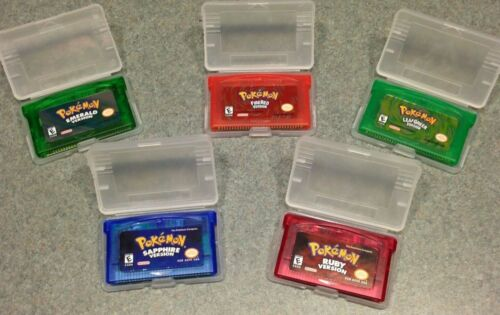 Pokemon Gameboy Advance Ruby Sapphire Emerald Fire red Leaf Green GBA Lot Option