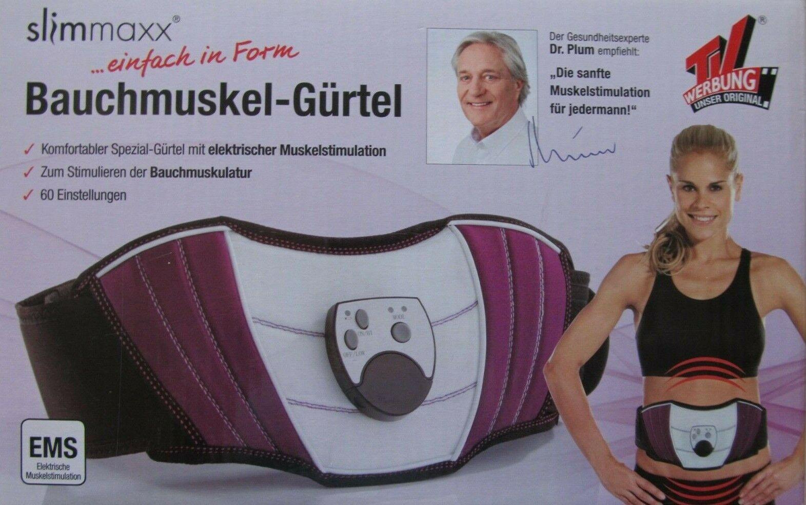 slimmaxx Bauchmuskel-Gürtel mit Kontaktgel NEU