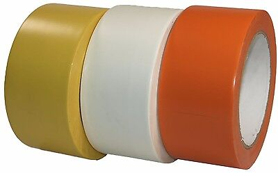 Markierungsband 50mm x 33m Sportboden Gelb Weiß Orange (Orange Klebeband)