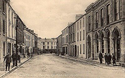 MAIN STREET BOYLE CO. ROSCOMMON IRELAND IRISH POSTCARD by LAWRENCE