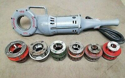 Ridgid 700 Power Pony Threader 12 To 2 Inch 12r Die Kit Included