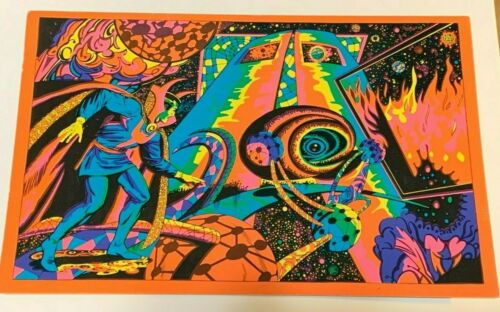 "1971 VINTAGE MARVEL COMICS BLACKLIGHT POSTCARD THE THIRD EYE -NICE, 6x9.25"" #142"