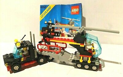 LEGO 6357 Classic Town _ STUNT 'COPTER N' TRUCK helicopter 1988- w/ Instructions