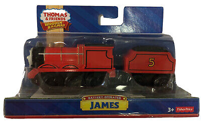 Thomas & Friends Wooden Railway James, Battery Operated Fisher Price SEALED NEW