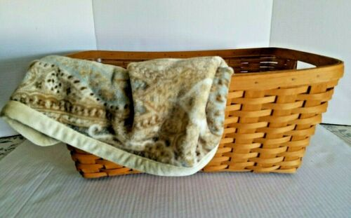 1996 Longaberger Small Laundry Basket w/Protector Classic Stain Item #12602