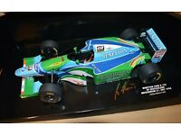 Visierdecals für Schumacher Benetton B194 1:18 Helm