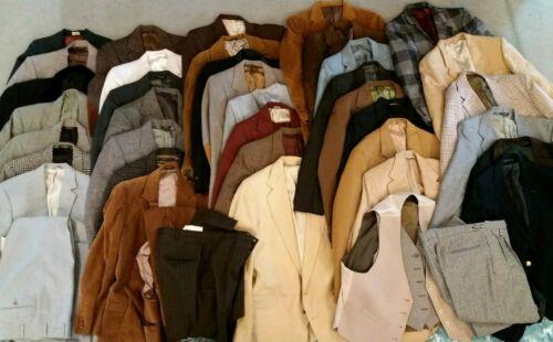 Wholesale Lot 36 Vintage Suit Jacket Sport Coat Blazer 60s 70s 80s 90s Mens USA