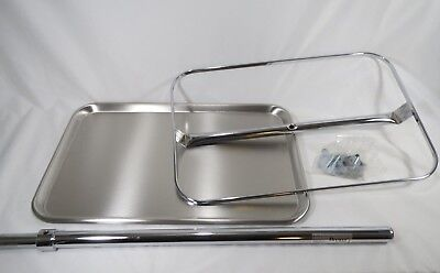 New Mobile Physician Surgical Mobile Instrument Stand Replacement Tray For 43465