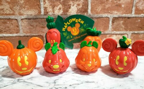 TOKYO Disney Resort Halloween Ornament Pumpkin Ghost candy Snack case Set of 6