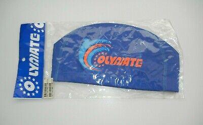 OLYAIATE Bright Blue/Orange SWIM CAP Colorful Pool Racing Tri Triathlon NEW! 1sz (Triathlon Swim Cap)