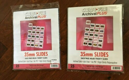 Clear-File Archival Plus 35mm Slide Sleeves 25-Pk, Stamp or Coin Collection