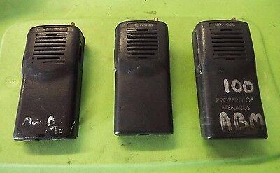 Set Of 3 Kenwood Tk-2100 Vhf Portable Radios Ghi